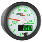 White & Green MaxTow 1,600 PSI Nitrous Pressure Gauge