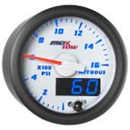 White & Blue MaxTow 1,600 PSI Nitrous Pressure Gauge