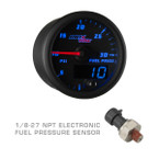 Black & Blue MaxTow 100 PSI Fuel Pressure Gauge with 1/8-27 NPT Electronic Pressure Sensor