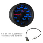 Black & Blue MaxTow Transmission Temperature Gauge with 1/8-27 NPT Electronic Temp Sensor