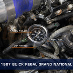 Mechanical Fuel Pressure Gauge Installed to 1987 Buick Regal Grand National