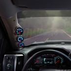 2014-2019 Chevrolet Silverado Duramax Tan Triple Pillar Pod Straight View