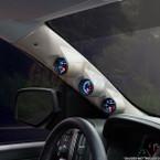 2014-2019 Chevrolet Silverado Duramax Tan Triple Pillar Pod Angled View