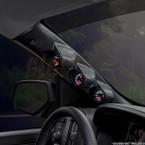 2014-2019 GMC Sierra Duramax Triple Pillar Pod Installed Angled View