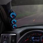 Elite 10 Color Series Triple Gauge Package for 2014-2019 Chevrolet Silverado Duramax Installed