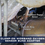 Installed Clamp-On Wideband Air/Fuel Ratio Sensor Bung Adapter