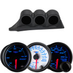 7 Color Series Triple Dashboard Gauge Package for 1999-2007 Ford Super Duty Power Stroke