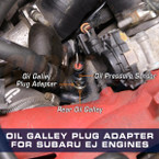 Oil Galley Plug Adapter Installed to 2005 Subaru Impreza WRX STI