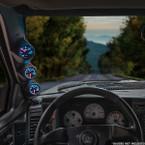 Black Triple Pillar Gauge Pod for 1983-1994 Chevrolet S-10 Blazer Installed