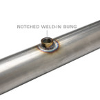 Wideband Air/Fuel Ratio Oxygen Sensor Notched Weld-In Bung Installed