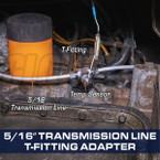 "5/16"" Transmission Line T-Fitting Adapter Installed"