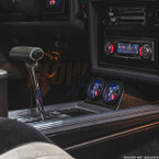 Black Dual Gauge Console Pod for 1985-1987 Buick Grand National Installed