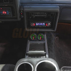 Black Dual Gauge Console Pod for 1978-1987 Oldsmobile Cutlass Installed