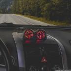 Black Dual Gauge Dashboard Pod for 2004-2006 Pontiac GTO Installed