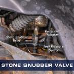 1/8-27 NPT Diesel Fuel Pressure Stone Snubber Valve Installed to Dodge Ram Cummins