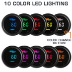 Choose from 10 Different LED Colors