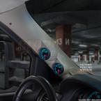 2007-2013 Chevrolet Suburban Tan Full Size Dual Pillar Pod Installed Side View