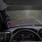 2014-2020 Chevrolet Suburban Triple Pillar Pod Installed Straight View