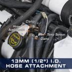 "13mm (1/2"") Water Sender Hose Attachment Installed"