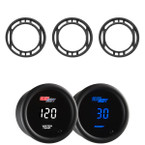 10 Color Digital Series Triple Air Vent Gauge Package for 2015-2020 Ford Mustang