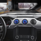 Elite 10 Color Series Dual Air Vent Gauge Package for 2015-2020 Ford Mustang Installed