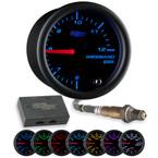 Black 7 Color Analog E85 Wideband Air/Fuel Ratio Gauge