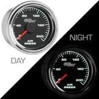 Mechanical 200 PSI Air Pressure Gauge - Day & Night View