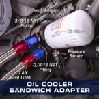 Oil Cooler Sandwich Adapter Installed