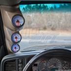 Tan Triple Pillar Gauge Pod for 2000-2006 Chevrolet Tahoe Installed
