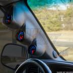 2000-2006 Chevrolet Silverado Duramax Triple Pillar Pod with A-Pillar Speaker Side View Installed