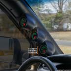 1998-2002 Dodge Ram Cummins Triple Pillar Pod with Speaker Cutout Option Installed