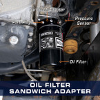 Oil Filter Sandwich Adapter for 2011-2022 6.7L Ford Power Stroke