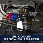 Oil Cooler Sandwich Adapter for 2011-2022 6.7L Ford Power Stroke