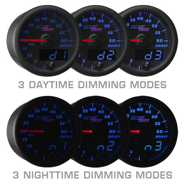 Black & Blue MaxTow Daytime & Nighttime Dimming Modes