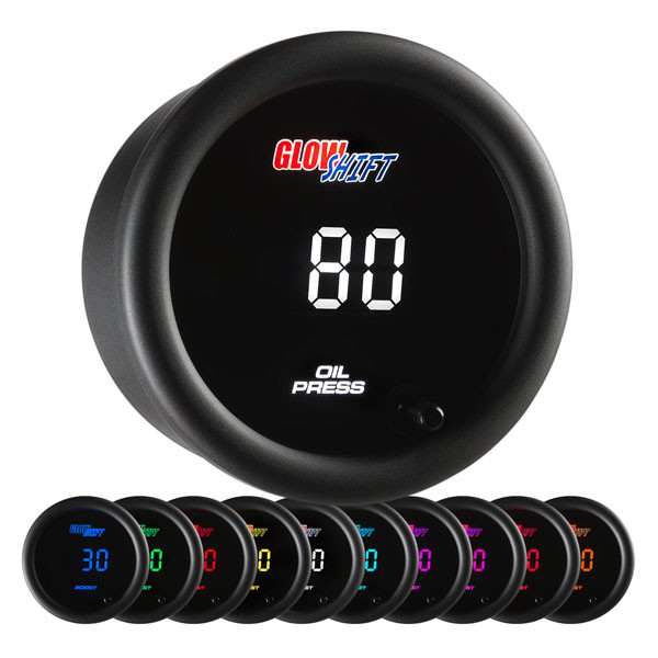 10 Color Digital Oil Pressure Gauge