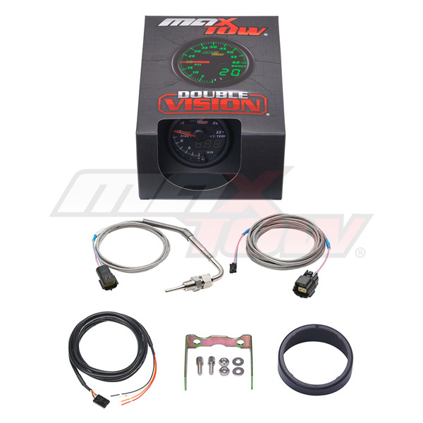 Black & Green MaxTow 2200 Degree F Exhaust Gas Temperature Gauge