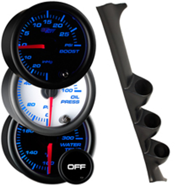 1993-2001 Subaru Impreza Custom 7 Color Gauge Package Gallery