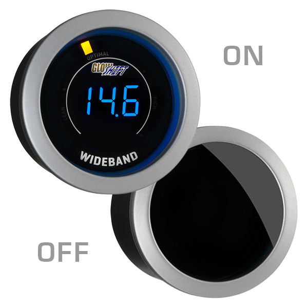 GlowShift Tinted Wideband Air/Fuel Ratio Gauge On/Off View