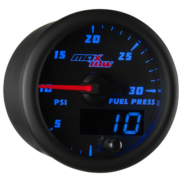 Black & Blue MaxTow 30 PSI Fuel Pressure Gauge