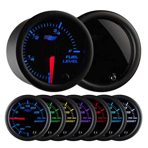Tinted 7 Color Fuel Level Gauge