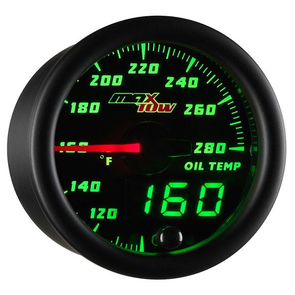 Black & Green MaxTow Oil Temperature Gauge