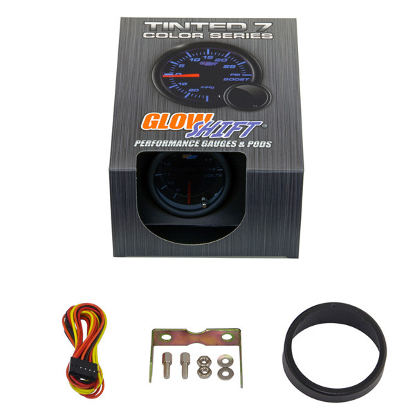 GlowShift Tinted 7 Color Voltmeter Gauge Unboxed