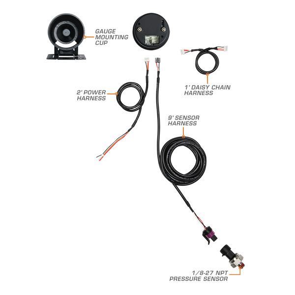 Elite 60 PSI Boost Gauge Wiring Schematic