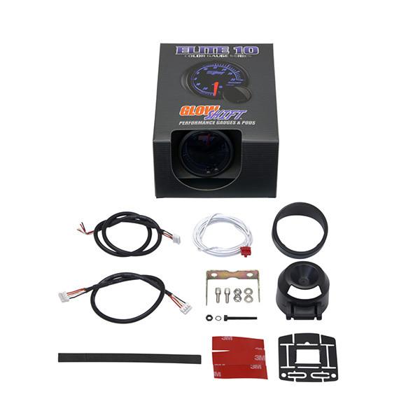 GlowShift Elite 10 Color Fuel Level Gauge Unboxed