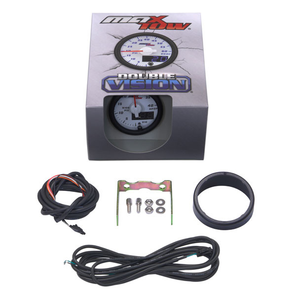 White & Blue MaxTow High Pressure Oil Pressure HPOP Gauge Unboxed