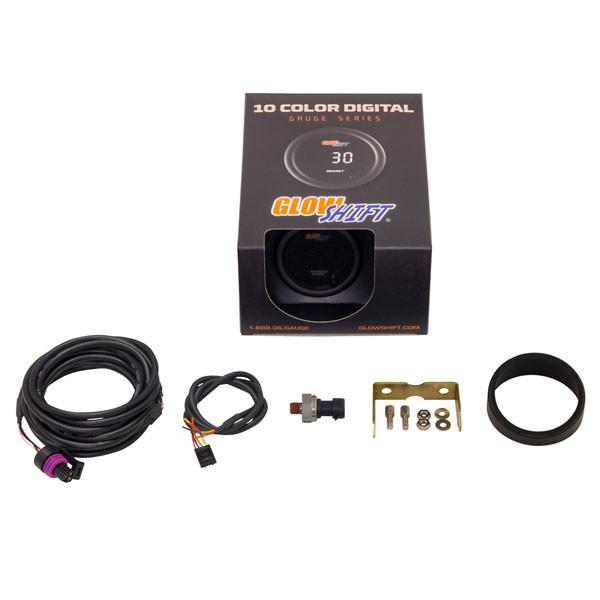 GlowShift 10 Color Digital NOS Pressure Gauge Unboxed