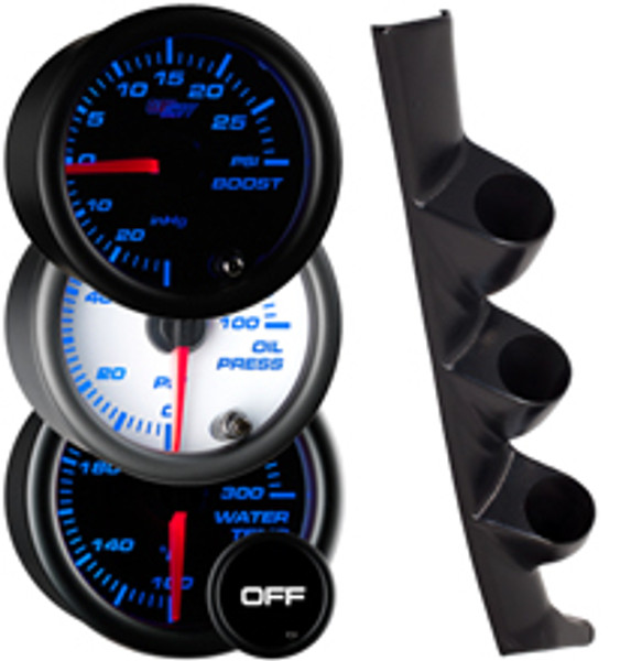 1993-1997 Honda Del Sol Custom 7 Color Gauge Package Gallery