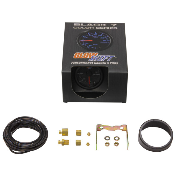 GlowShift Black 7 Color 60 PSI Boost Gauge Unboxed