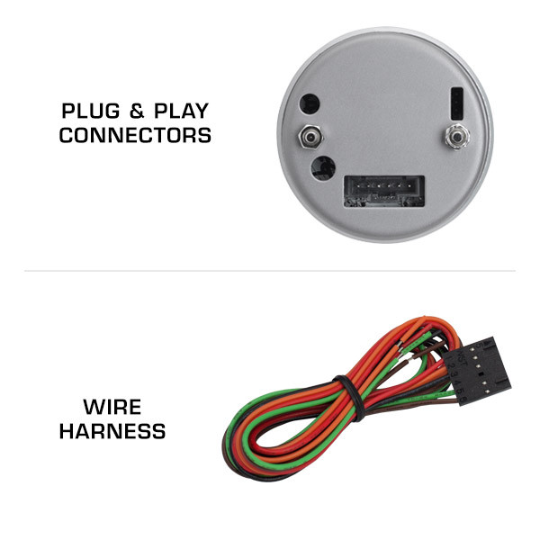 Plug & Play Connections with Tinted Tachometer Gauge