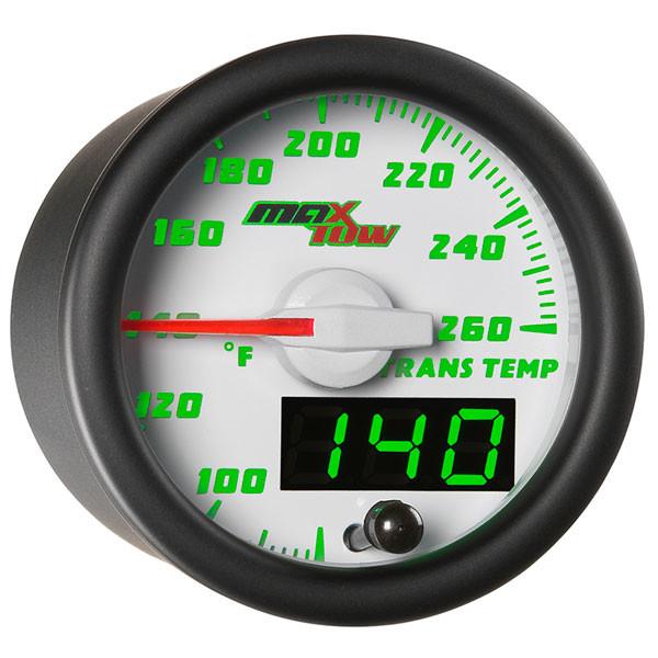 White & Green MaxTow Transmission Temperature Gauge
